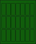1 X 3 BRILLIANT GREEN L1030BG