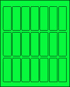 1 X 3 FLUORESCENT GREEN L1030FG