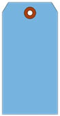 # 10 JUMBO BLUE SHIPPING TAG PLAIN