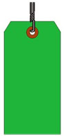 #10 JUMBO GREEN SHIPPING TAG WIRED