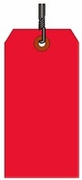 #10 JUMBO RED SHIPPING TAG WIRED