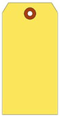 #10 JUMBO YELLOW SHIPPING TAG PLAIN
