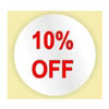 10% OFF LABEL - RED INK