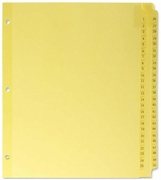 "10150 - NUMBERED TABBED INDEXES/DIVIDERS  (1-50 SERIES) FOR 8 1/2"" X 11"" SHEET SIZE"