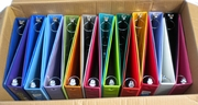 12 COLOR ASSORTMENT 1 1/2 INCH VIEW BINDERS
