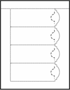 130 - 2 1/4 X 6 BOOKMARK WITH ARC - 4 PER 8 1/2 X 11 SHEET