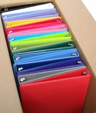 "18 PACK COLOR ASSORTMENT 1"" RING VIEW BINDERS"