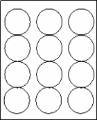"2 1/2"" CIRCLE  - White -   100 sheets per box"