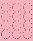 "2 1/2"" PASTEL PINK LABEL (GLC250PP) 100 SHEETS/BOX"