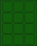 2 1/2 X 2 1/2 BRILLIANT GREEN - L2525BG
