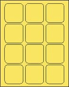 2 1/2 X 2 1/2 BRILLIANT YELLOW - L2525BY
