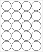 "2"" CIRCLE   - White -  100 sheets per box"