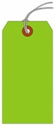 #2 FL GREEN SHIPPING TAG STRUNG