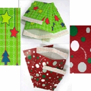 #2 MAILERS - 8 1/2 X 11 CHRISTMAS HOLIDAY BUBBLE MAILERS (100 PER CASE)