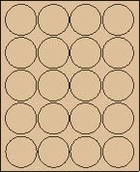 "2"" PASTEL BROWN LABEL (GLC200PBRWN) 100 SHEETS/BOX"