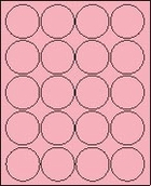 "2"" PASTEL PINK LABEL (GLC200PP) 100 SHEETS/BOX"