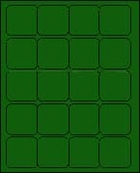 2 X 2 BRILLIANT GREEN - L2020BG