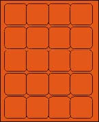 2 x 2 BRILLIANT ORANGE - L2020BO
