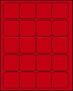 2 X 2 BRILLIANT RED - L2020BR