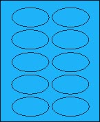 "2"" X 3 1/4"" BRILLIANT BLUE OVAL LABEL (GL2032VBB) 100 sheets/box"