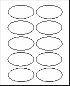 "2"" X 3 1/4"" OVAL LABELS (GL2032V)"