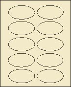 "2"" X 3 1/4"" PASTEL BUFF OVAL LABEL (GL2032VPBF)  100 sheets/box"