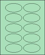 "2"" X 3 1/4"" PASTEL GREEN OVAL LABEL (GL2032VPG) 100 sheets/box"