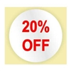 20% OFF LABEL - RED INK