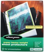 "21401 NON GLARE 50 SHEET BOX SUPER HEAVYWEIGHT SHEET PROTECTOR FOR 8 1/2"" X 11"" SHEET SIZE"