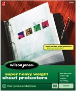 "21402 CLEAR 25 SHEET BOX SUPER HEAVYWEIGHT SHEET PROTECTOR FOR 8 1/2"" X 11"" SHEET SIZE"
