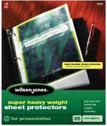 "21403 NON GLARE 25 SHEET BOX SUPER HEAVYWEIGHT SHEET PROTECTOR FOR 8 1/2"" X 11"" SHEET SIZE"