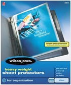 "21411 CLEAR 100 SHEET BOX HEAVYWEIGHT SHEET PROTECTOR FOR 8 1/2"" X 11"" SHEET SIZE"