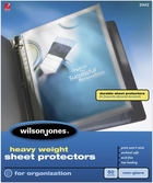 "21412 NON GLARE 50 SHEET BOX HEAVYWEIGHT SHEET PROTECTOR FOR 8 1/2"" X 11"" SHEET SIZE"