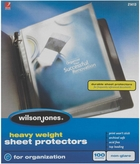"21413 NON GLARE 100 SHEET BOX HEAVYWEIGHT SHEET PROTECTOR FOR 8 1/2"" X 11"" SHEET SIZE"