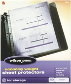 "21420 CLEAR 50 SHEET BOX ECONOMY WEIGHT SHEET PROTECTOR FOR 8 1/2"" X 11"" SHEET SIZE"