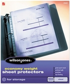 "21421 CLEAR 100 SHEET BOX ECONOMY WEIGHT SHEET PROTECTOR FOR 8 1/2"" X 11"" SHEET SIZE"