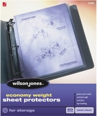 "21422 SEMICLEAR 50 SHEET BOX ECONOMY WEIGHT SHEET PROTECTOR FOR 8 1/2"" X 11"" SHEET SIZE"