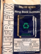 (22095)  5 tab clear indexes/dividers for 6 x 9 1/2