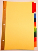 22988  8 tab color indexes/dividers for 8 1/2 x 5 1/2