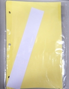 (22998)  8 tab clear indexes/dividers for 6 x 9 1/2