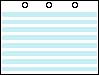 "23-0024 - 1/2"" BLUE BAR (LANDSCAPE WITH 3 HOLES AT TOP) BY THE REAM"