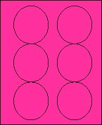 "3 1/3"" FLUORESCENT PINK LABEL (GLC330FP) 100 SHEETS/BOX"