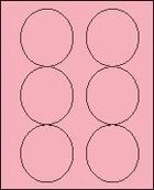 "3 1/3"" PASTEL PINK LABEL (GLC330PP) 100 SHEETS/BOX"