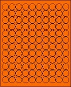 "3/4"" FLUORESCENT ORANGE LABEL (GLC075FO) 100 SHEETS/BOX"