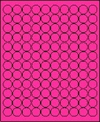 "3/4"" FLUORESCENT PINK LABEL (GLC075FP) 100 SHEETS/BOX"