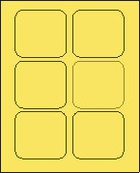 3 X 3 PASTEL YELLOW L3030PY