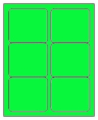 3 X 4 FLUORESCENT GREEN L3040FG