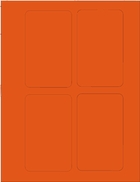 "3"" X 5"" BRILLIANT ORANGE LABEL (GL3050BO)"