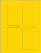 "3"" X 5"" BRILLIANT YELLOW LABEL (GL3050BY)"