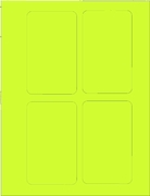 "3"" X 5"" FLUORESCENT CHARTREUSE LABEL (GL3050FC)"